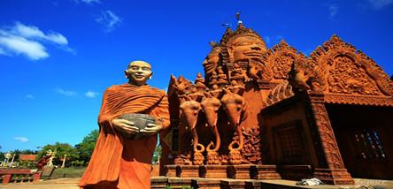 重庆到柬埔印象吴哥、金边6日游(白天0自费)