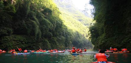 重庆阿依河、篝火晚会、峡谷观光二日游