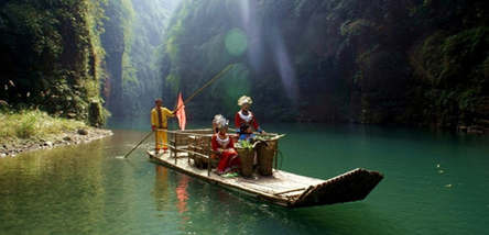 重庆黔江芭拉胡、小南海、阿依河(漂流)二日
